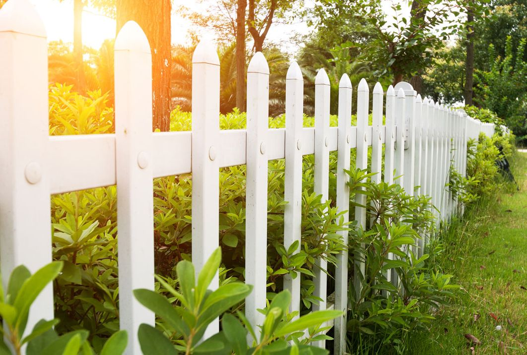 Picket fence installed by our team