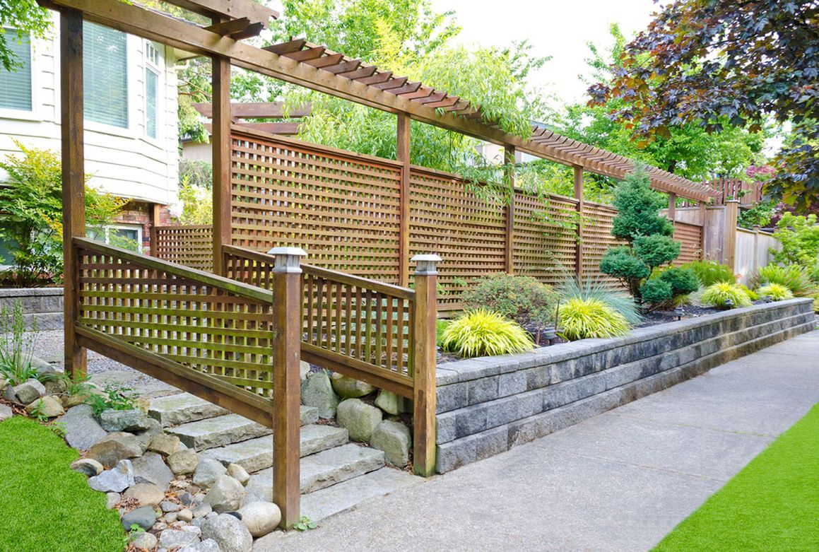 Trellis fencing installed in a customers garden
